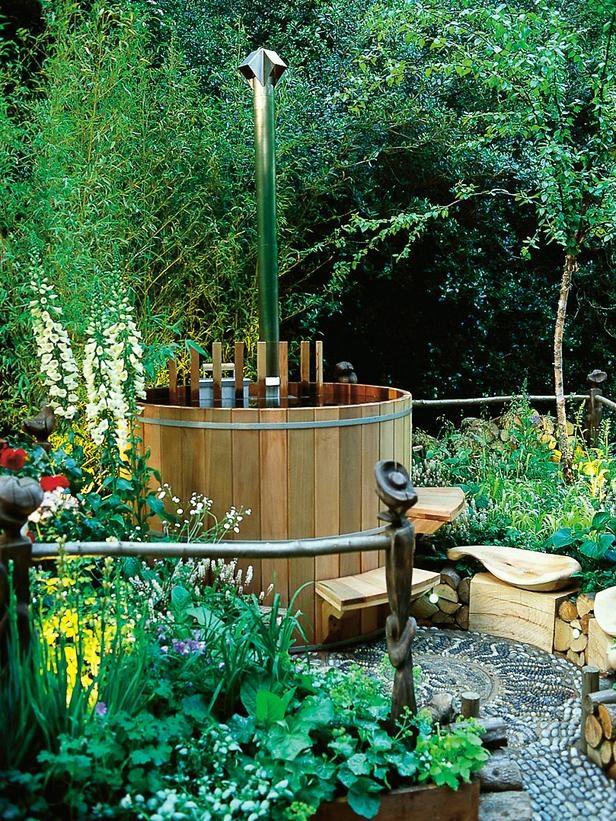 Garden hot tub designs for Garden tub designs